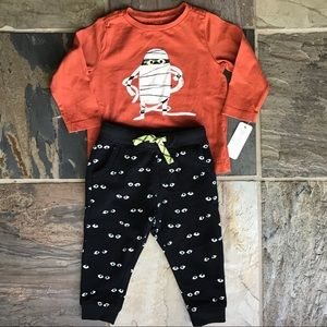 Gymboree Glow-in-dark pants and Mummy top set